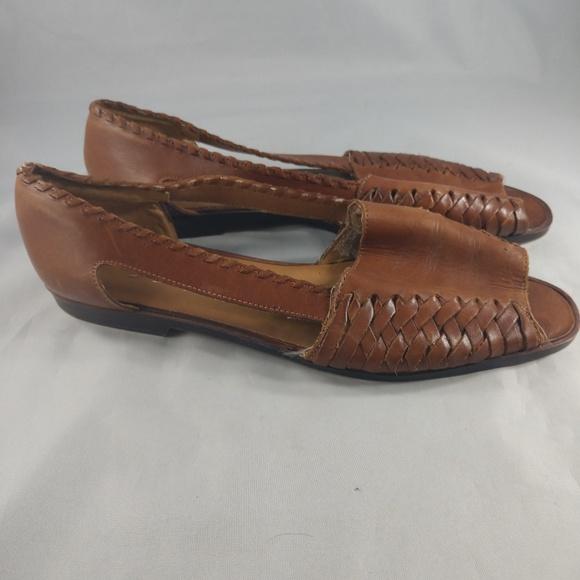 475b8acdfd8 Nicole Shoes | Woven Fisherman Huarache Flat Sandals 85 | Poshmark